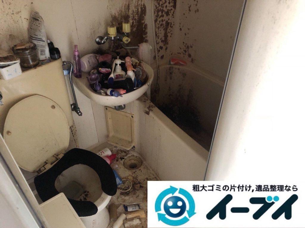 2018年11月27日大阪府大阪市浪速区で放置されていたワンルームゴミ屋敷の片付け。写真5