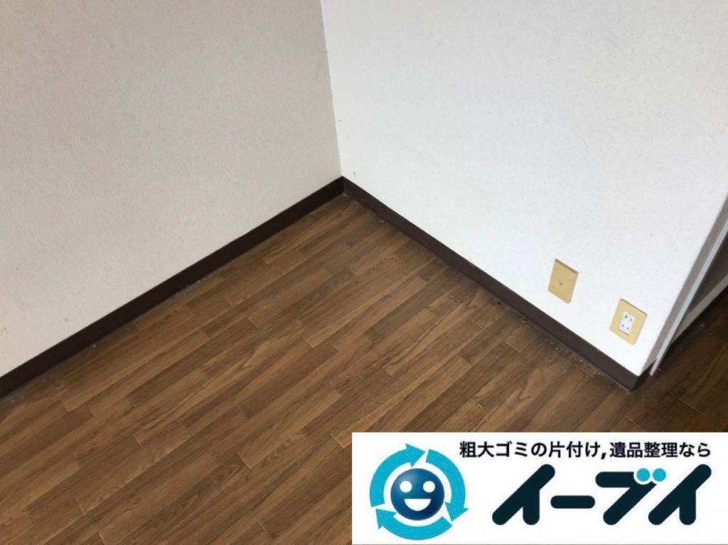 2018年11月27日大阪府大阪市浪速区で放置されていたワンルームゴミ屋敷の片付け。写真4