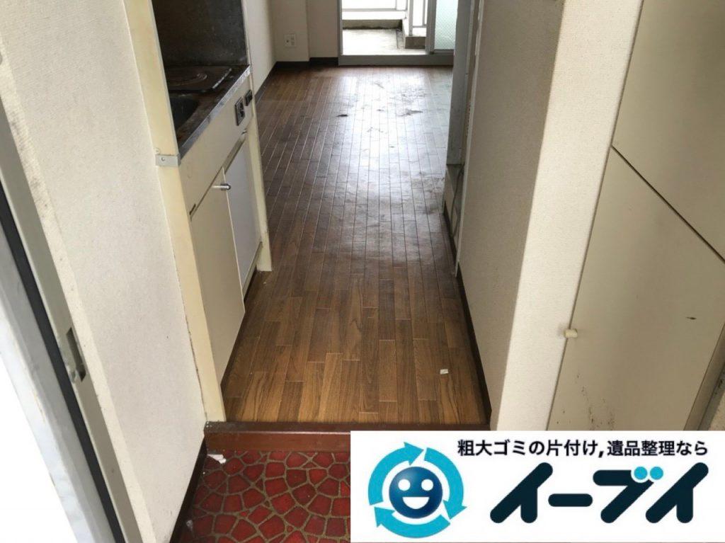 2018年11月27日大阪府大阪市浪速区で放置されていたワンルームゴミ屋敷の片付け。写真2