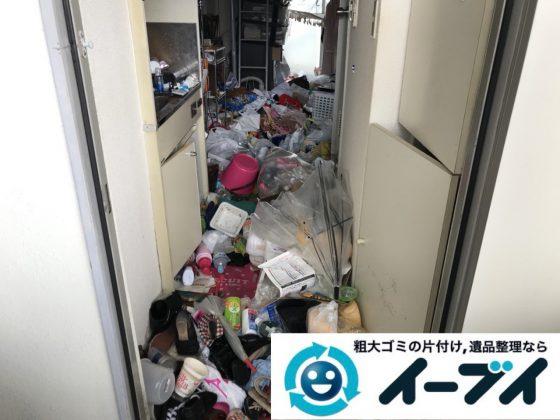 2018年11月27日大阪府大阪市浪速区で放置されていたワンルームゴミ屋敷の片付け。写真1