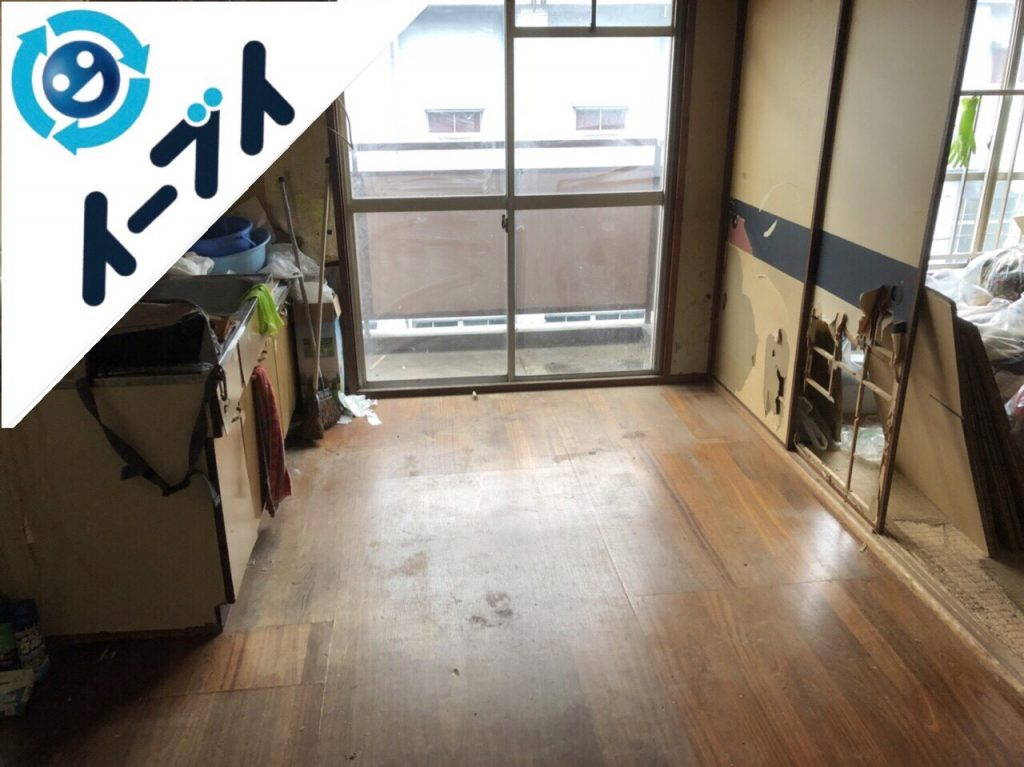 2018年11月9日大阪府大阪市浪速区でスノコや袋ゴミ等不用品回収をしました。写真3