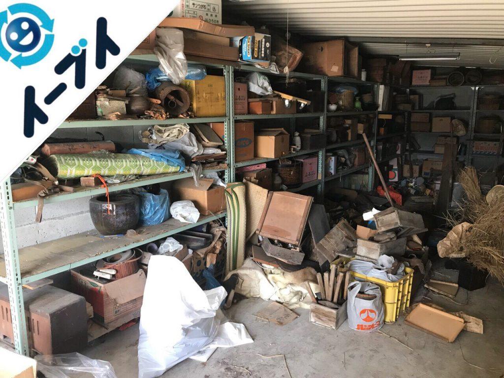 2018月12月3日大阪府堺市堺区でガレージの鉄製ラックや工具類の廃品回収をしました。写真6