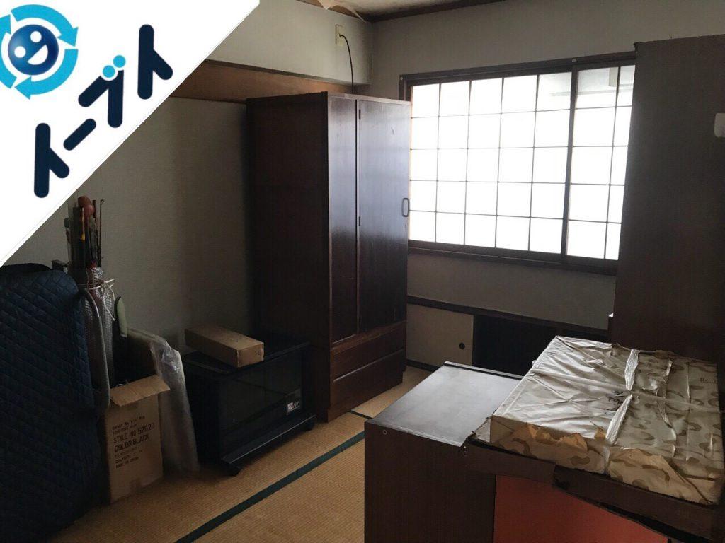 2018年11月28日大阪府岸和田市で足踏みミシンやタンスの大型家具の不用品回収。写真2