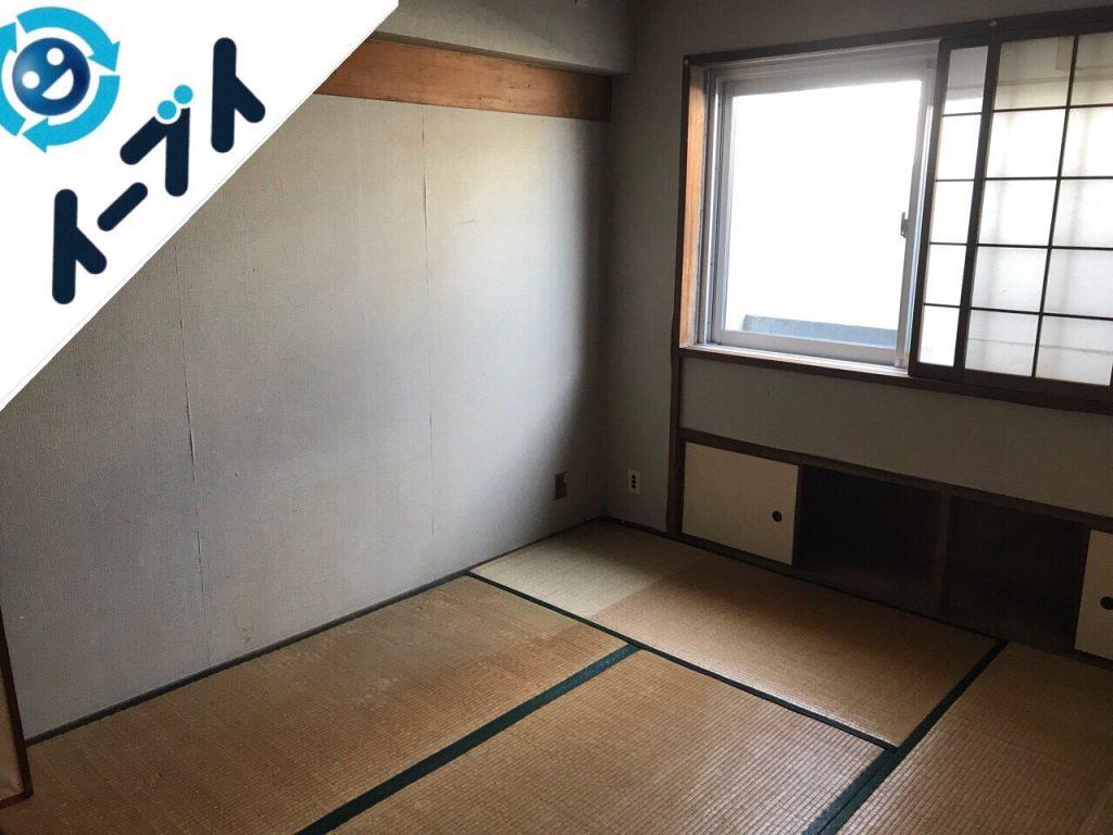 2018年11月28日大阪府岸和田市で足踏みミシンやタンスの大型家具の不用品回収。写真3