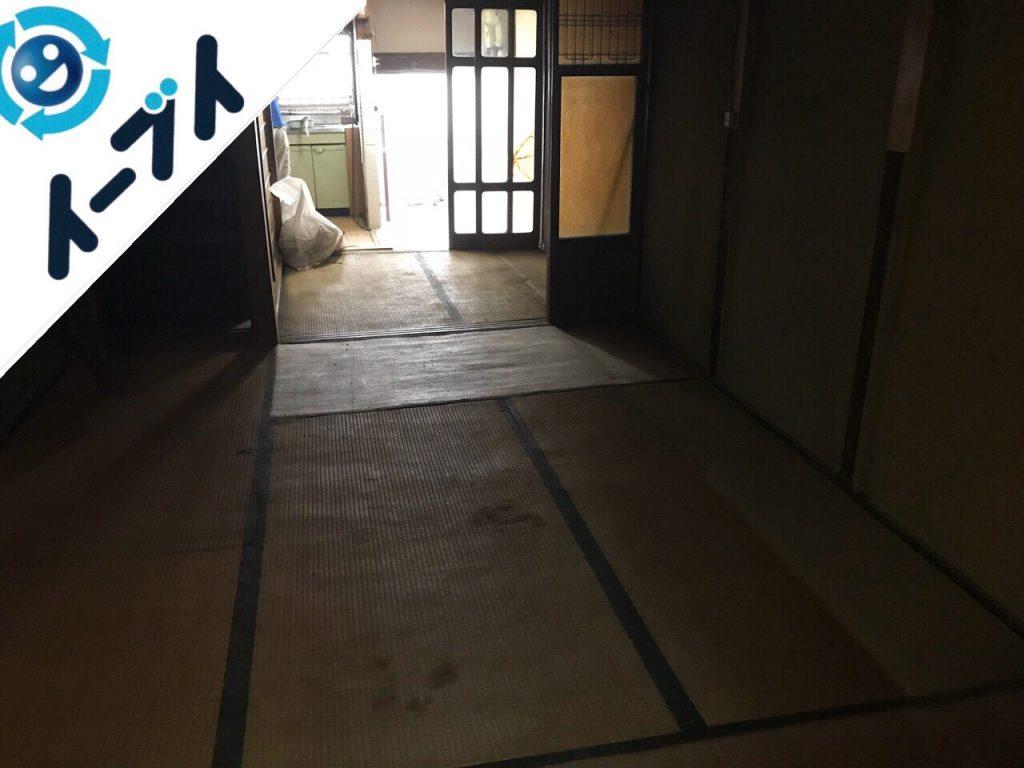 2018年11月20日大阪府貝塚市で実家整理に伴い大型家具や粗大ゴミ不用品回収。写真1