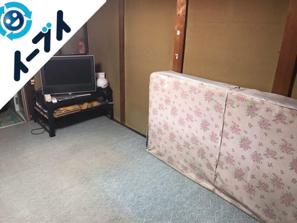 2018年11月20日大阪府貝塚市で実家整理に伴い大型家具や粗大ゴミ不用品回収。写真4