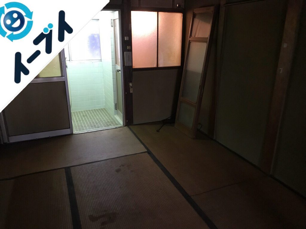 2018年11月20日大阪府貝塚市で実家整理に伴い大型家具や粗大ゴミ不用品回収。写真3