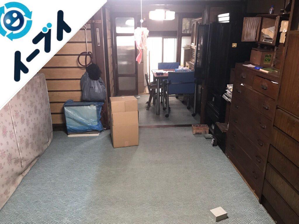 2018年11月20日大阪府貝塚市で実家整理に伴い大型家具や粗大ゴミ不用品回収。写真2
