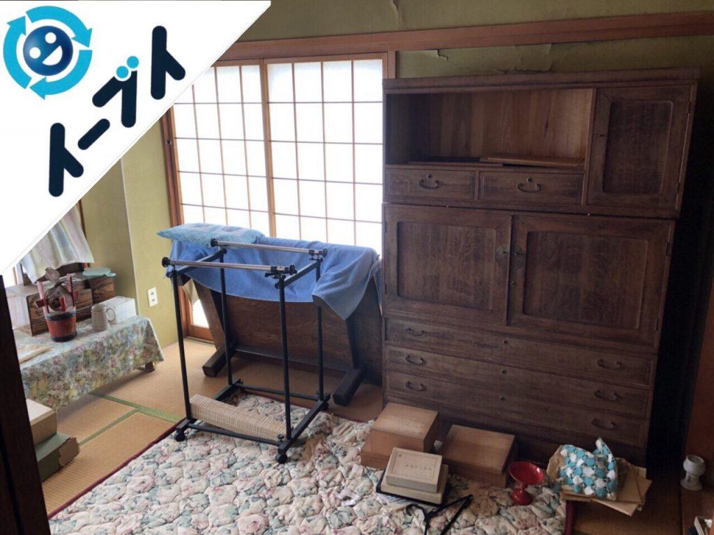 2018年11月12日大阪府堺市美原区で鏡台や布団の片付けを和ダンスの家具処分をしました。写真2月