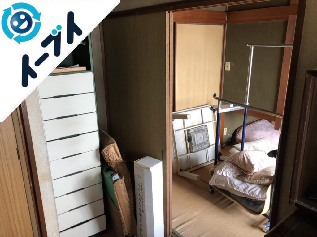 2018年11月24日大阪府島本町で家具(こたつ等)や生活用品の大型ゴミの不用品回収。写真4