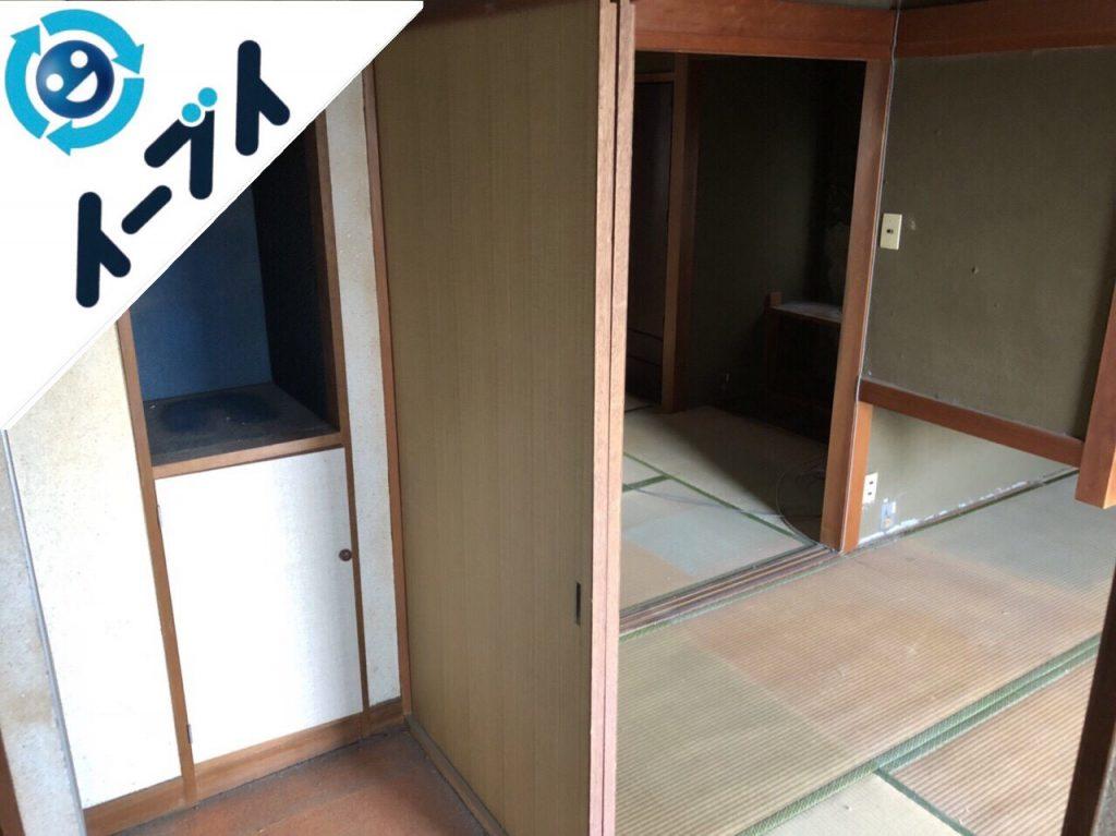 2018年11月24日大阪府島本町で家具(こたつ等)や生活用品の大型ゴミの不用品回収。写真3