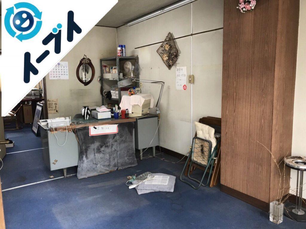 2018年11月18日大阪府島本町で店舗の移転に伴う事務机等の不用品回収をしました。写真2