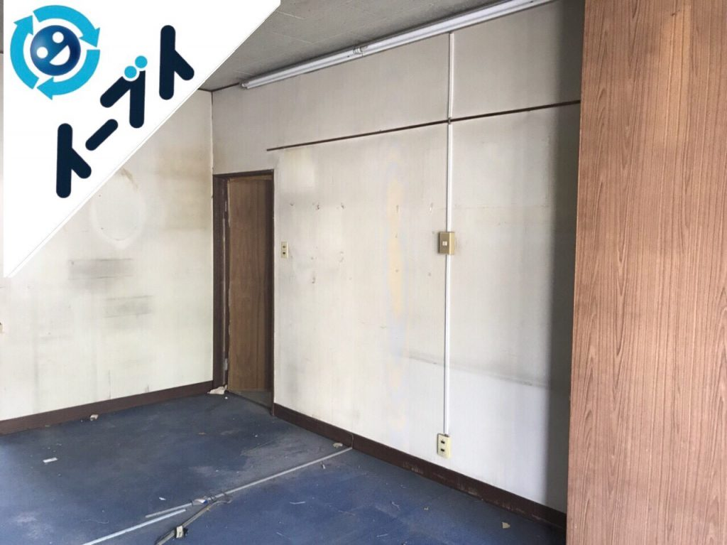 2018年11月18日大阪府島本町で店舗の移転に伴う事務机等の不用品回収をしました。写真1