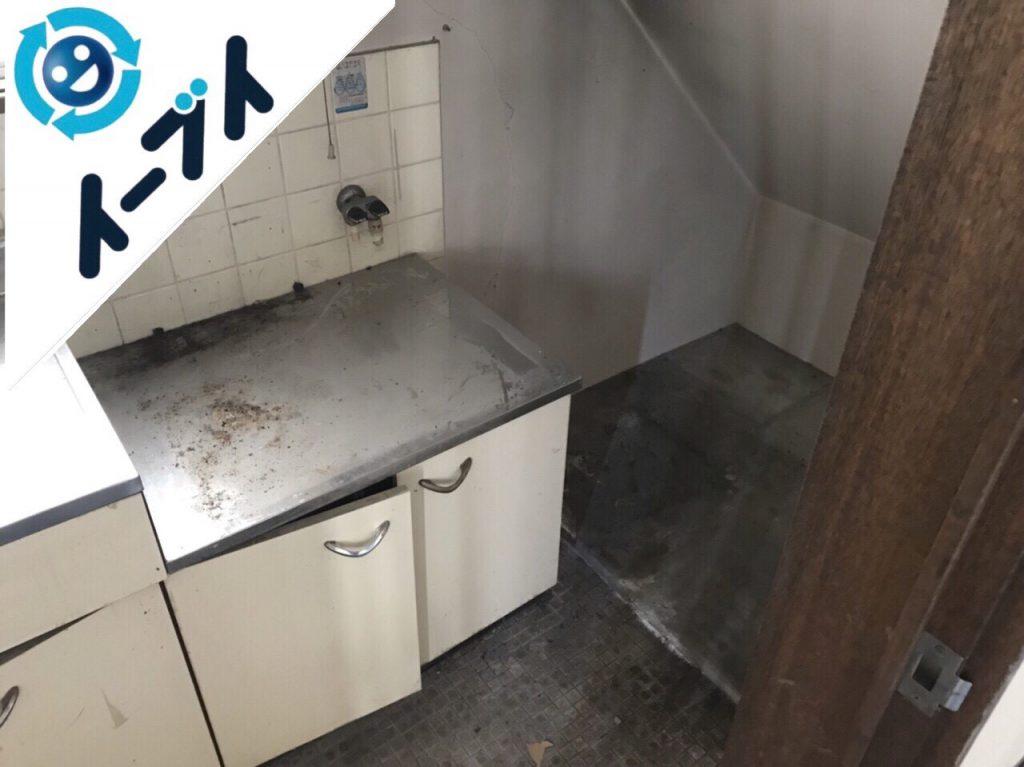 2018年11月8日大阪府大阪市北区でカラーボックスやガスコンロ等の粗大ゴミの不用品回収をしました。写真3