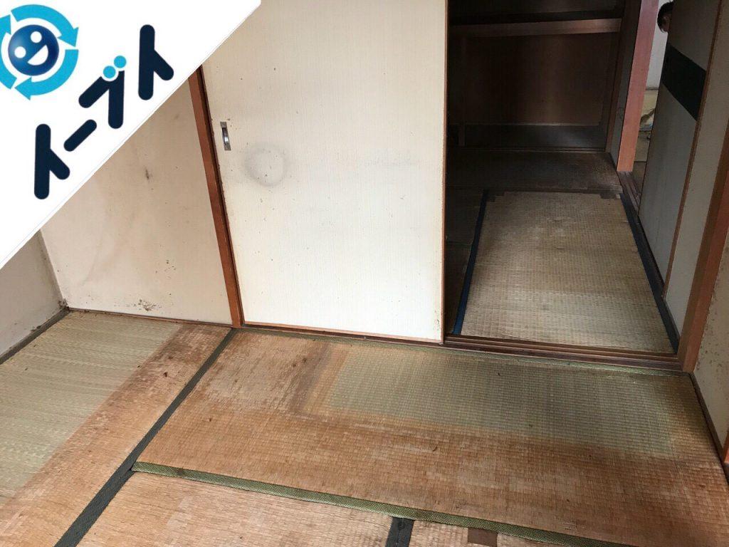 2018年11月15日大阪府泉佐野市で布団やテレビ台や天井照明の粗大ゴミの不用品回収をしました。写真3