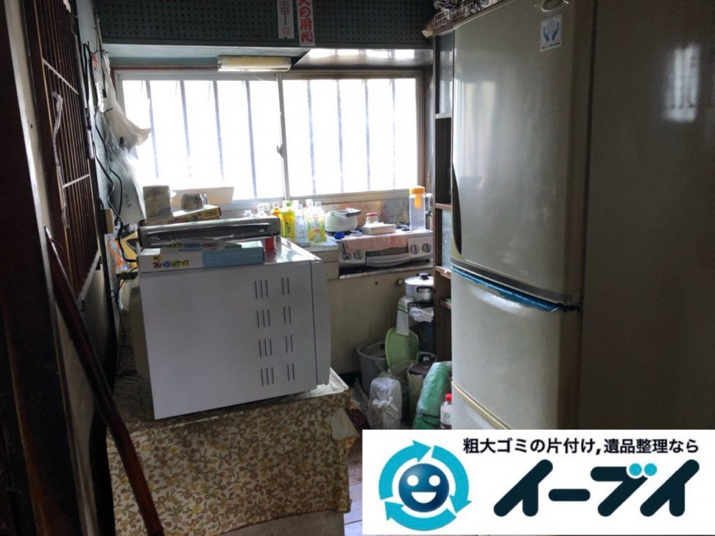 2018年11月21日大阪府箕面市で実家の退去に伴い古くて使わなくなった家財一式の処分回収。写真4