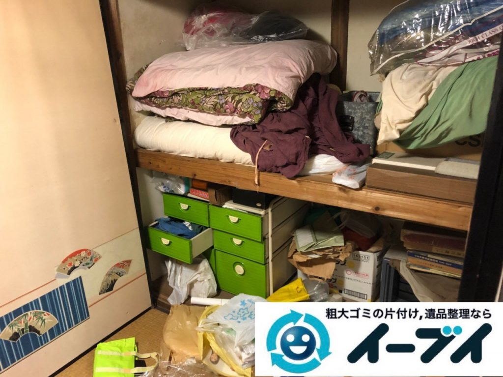 2018年11月21日大阪府豊中市で仏壇(合同供養)や押し入れの布団などの回収処分。写真4