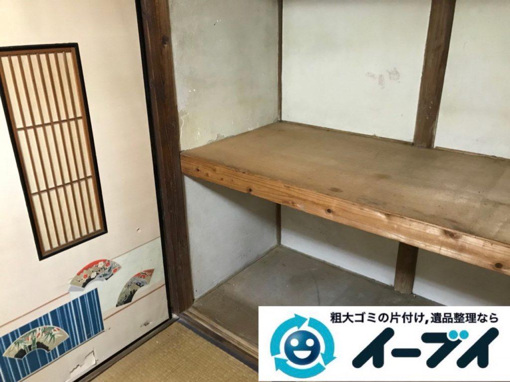 2018年11月21日大阪府豊中市で仏壇(合同供養)や押し入れの布団などの回収処分。写真3