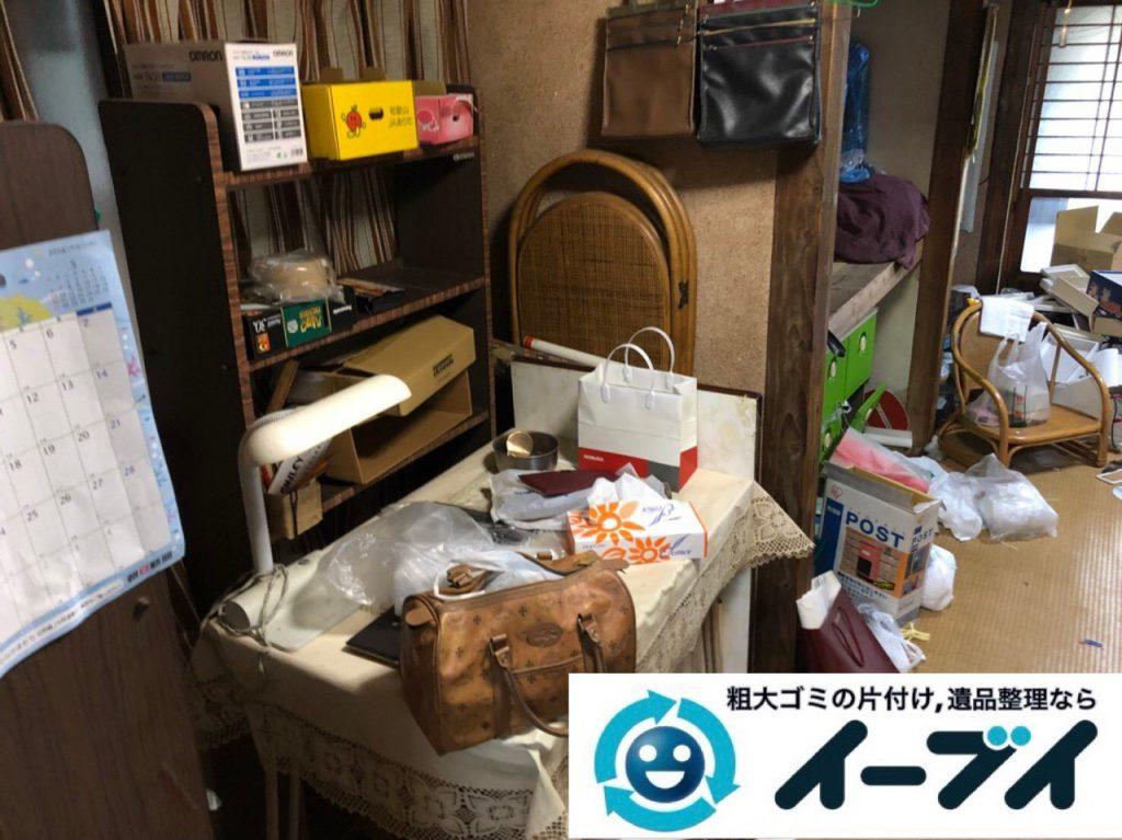 2018年11月14日大阪府堺市北区でギフトボックスや生活雑貨の片付けと不用品回収作業。写真4