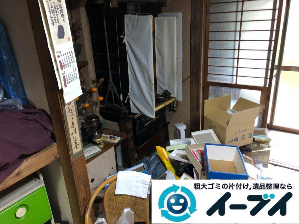 2018年11月21日大阪府豊中市で仏壇(合同供養)や押し入れの布団などの回収処分。写真2