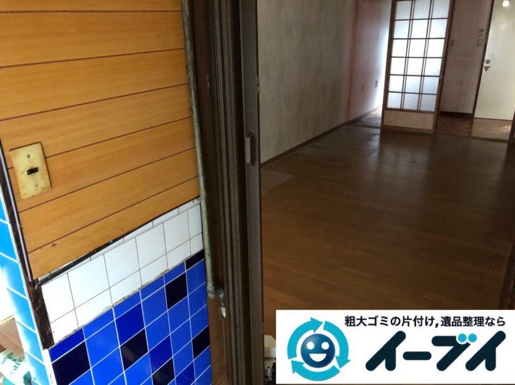 2018年11月30日大阪府大阪市旭区でガスコンロと電子レンジと食器棚の不用品回収をしました。写真1