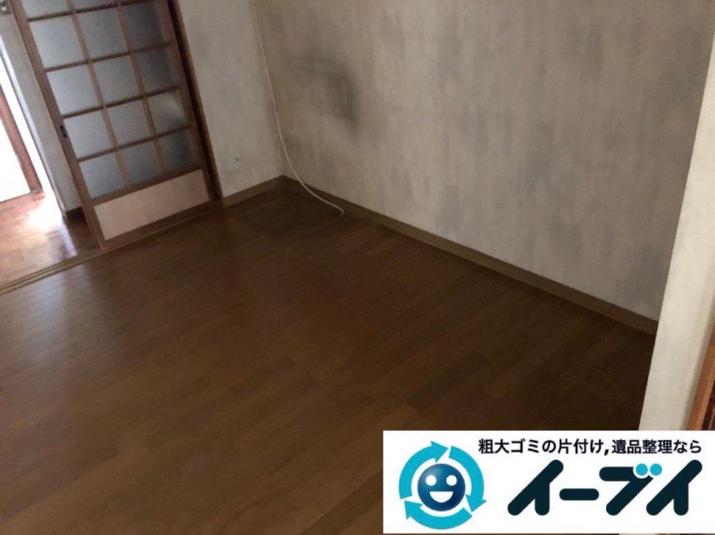 2018年11月29日大阪府大阪市住吉区で引っ越しに伴い不要な家具などの回収処分。写真1
