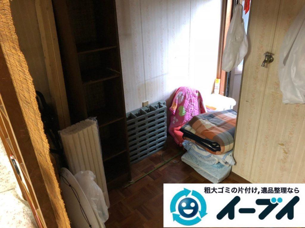 2018年11月11日大阪府大阪市旭区で遺品整理に伴い部屋の片付けと家財処分をしました。写真6