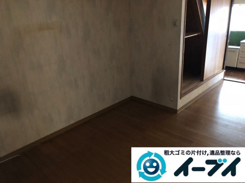 2018年11月11日大阪府大阪市旭区で遺品整理に伴い部屋の片付けと家財処分をしました。写真5