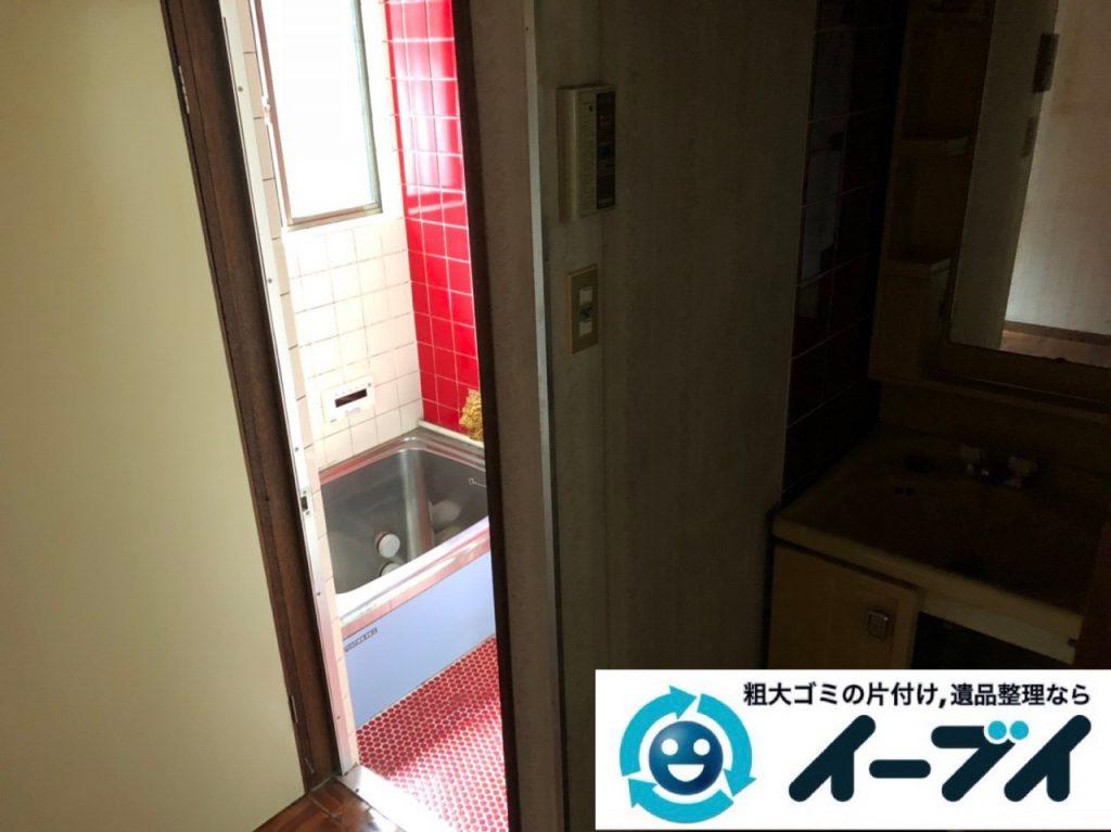 2018年11月11日大阪府大阪市旭区で遺品整理に伴い部屋の片付けと家財処分をしました。写真3