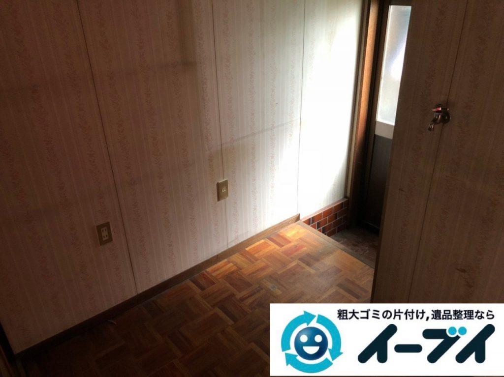 2018年11月11日大阪府大阪市旭区で遺品整理に伴い部屋の片付けと家財処分をしました。写真1