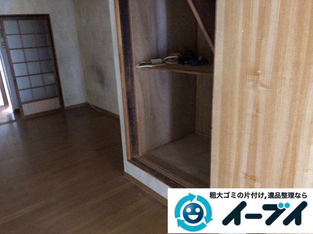 2018年11月29日大阪府大阪市住吉区で引っ越しに伴い不要な家具などの回収処分。写真3