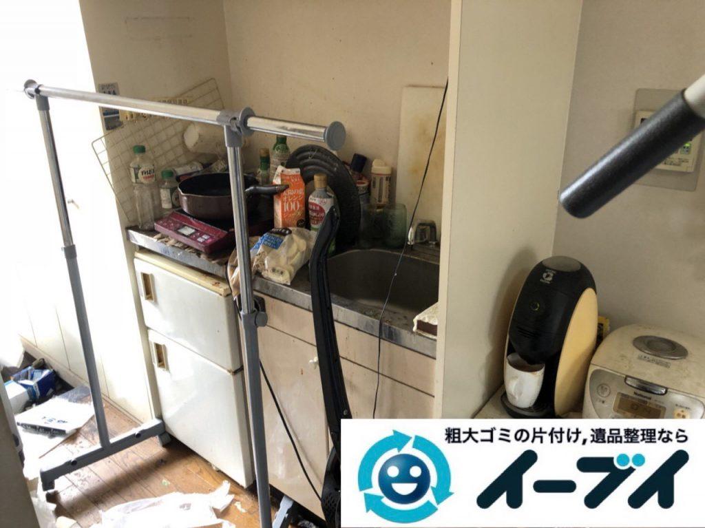 2018年11月23日大阪府東大阪市で退去に伴いゴミ屋敷の片付け生活用品など一式処分しました。写真4