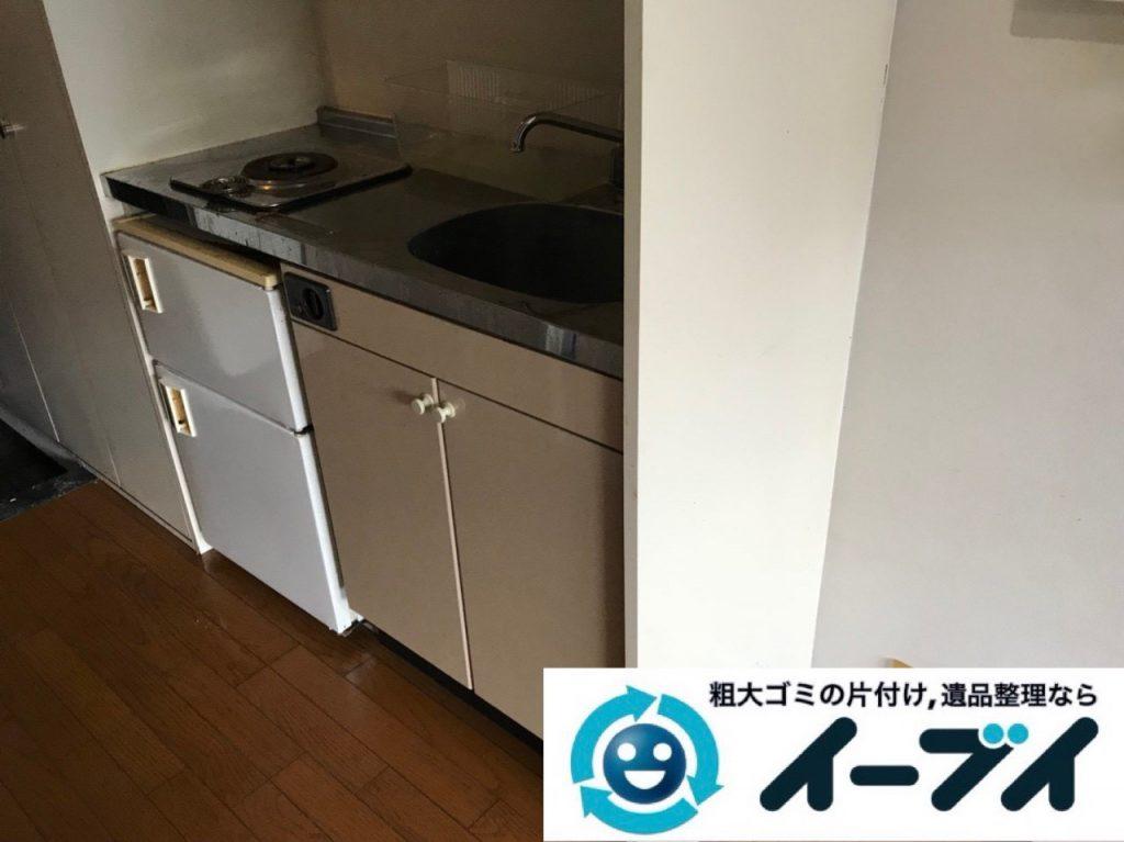 2018年11月23日大阪府東大阪市で退去に伴いゴミ屋敷の片付け生活用品など一式処分しました。写真3