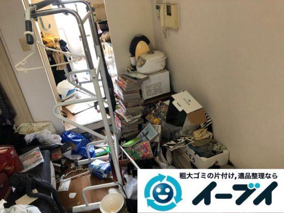 2018年11月23日大阪府東大阪市で退去に伴いゴミ屋敷の片付け生活用品など一式処分しました。写真2