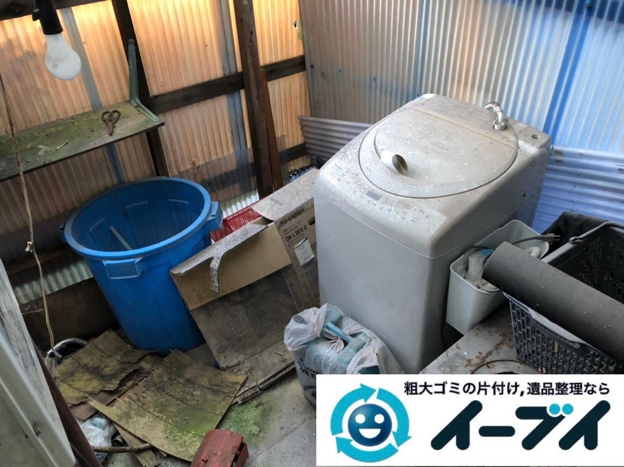 2019年1月15日大阪府大阪市城東区で洗濯機などの不用品回収のご依頼。写真3