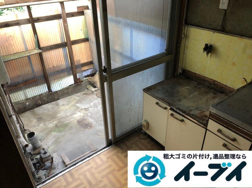 2019年1月15日大阪府大阪市城東区で洗濯機などの不用品回収のご依頼。写真2
