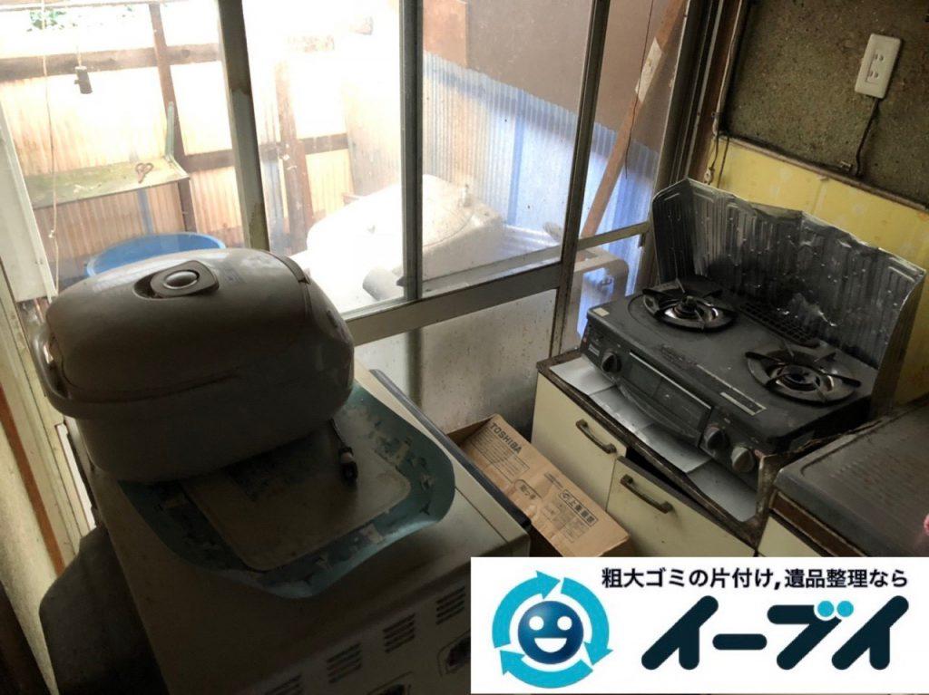 2019年1月15日大阪府大阪市城東区で洗濯機などの不用品回収のご依頼。写真1