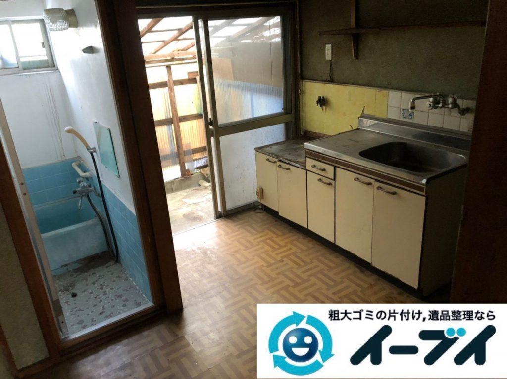 2019年1月25日大阪府大阪市東成区で台所の冷蔵庫や食器棚の大型粗大ゴミ処分などの不用品回収。写真2