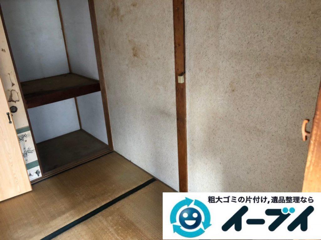2019年1月21日大阪府大阪市此花区で家具処分や家電処分、押し入れの片付け作業。写真4