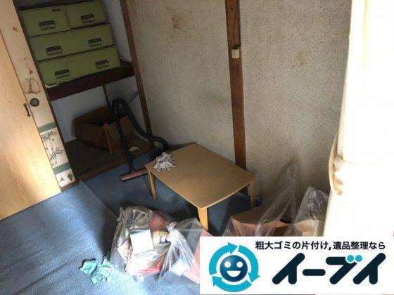 2019年1月21日大阪府大阪市此花区で家具処分や家電処分、押し入れの片付け作業。写真3