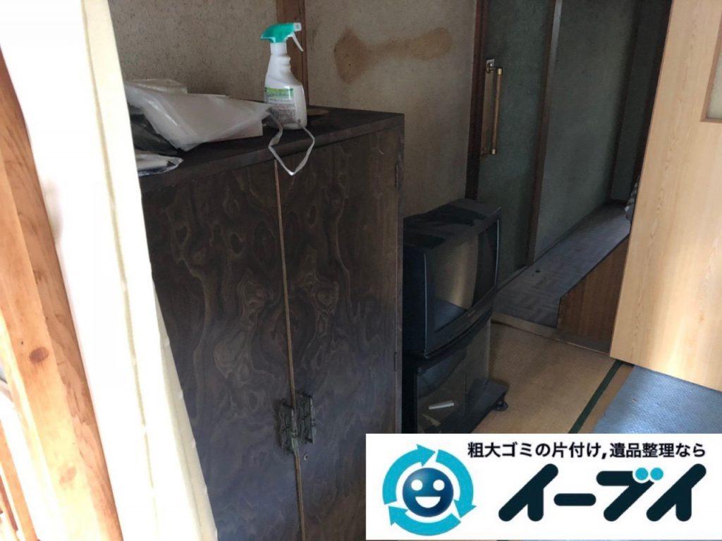 2019年1月24日大阪府大阪市東住吉区でテレビや箪笥などの不用品回収をさせていただきました。写真4