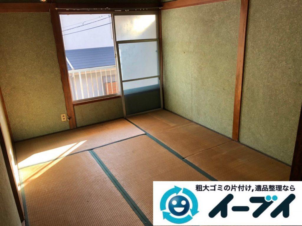 2019年1月23日大阪府大阪市平野区で退去に伴いお家の物を全処分させていただきました。写真1