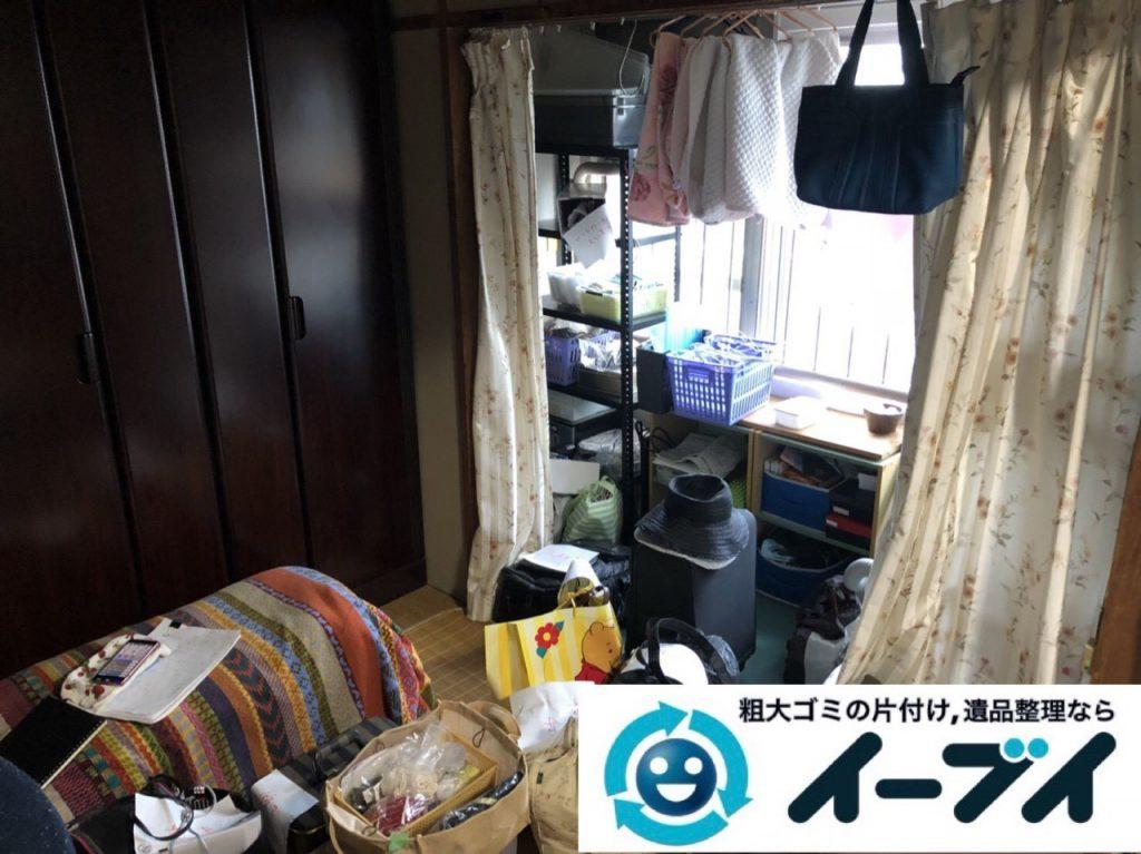 2019年1月27日大阪府大阪市東淀川区で婚礼家具から細かな生活用品まで全て不用品回収させていただきました。写真3