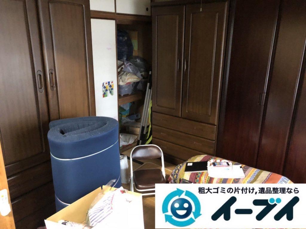 2019年1月27日大阪府大阪市東淀川区で婚礼家具から細かな生活用品まで全て不用品回収させていただきました。写真1