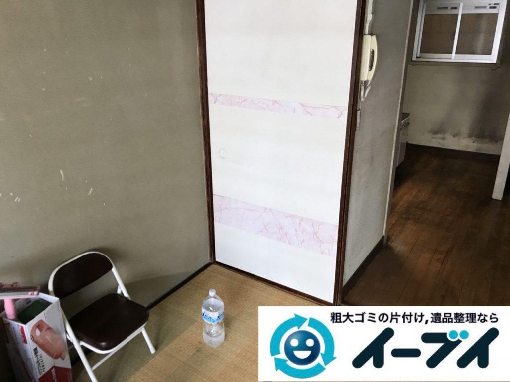 2019年1月21日大阪府大阪市此花区で家具処分や家電処分、押し入れの片付け作業。写真2