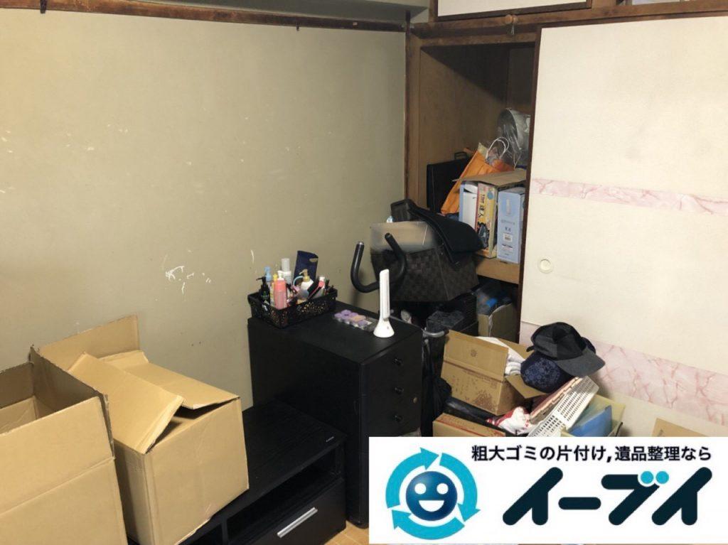 2019年1月21日大阪府大阪市此花区で家具処分や家電処分、押し入れの片付け作業。写真1