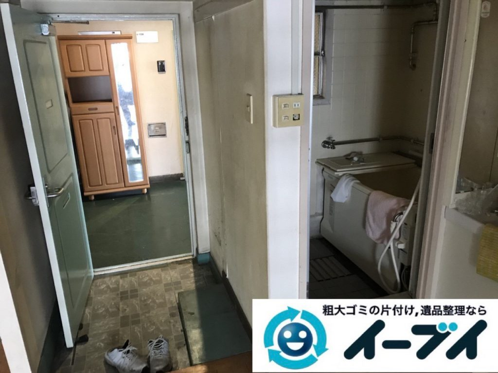 2019年1月28日大阪府大阪市浪速区で台所と浴室の不用品の片付け。写真4