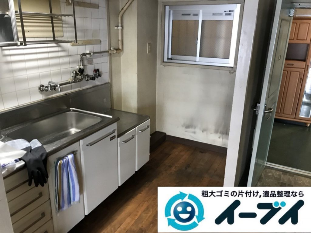 2019年1月28日大阪府大阪市浪速区で台所と浴室の不用品の片付け。写真2