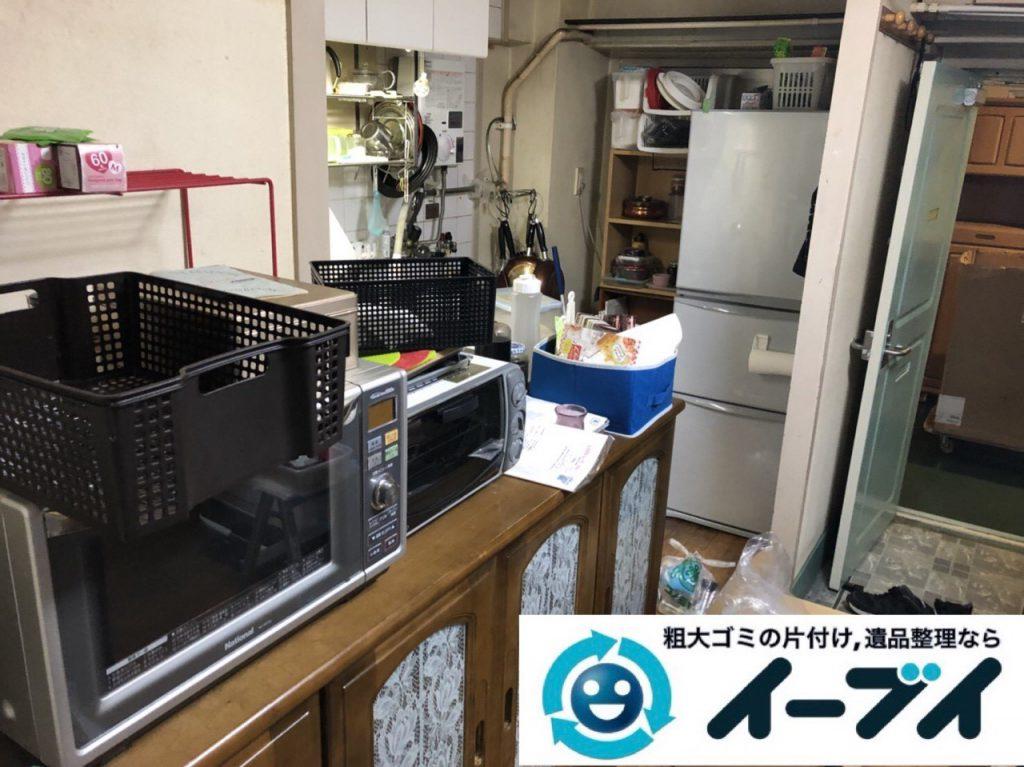 2019年1月28日大阪府大阪市浪速区で台所と浴室の不用品の片付け。写真1