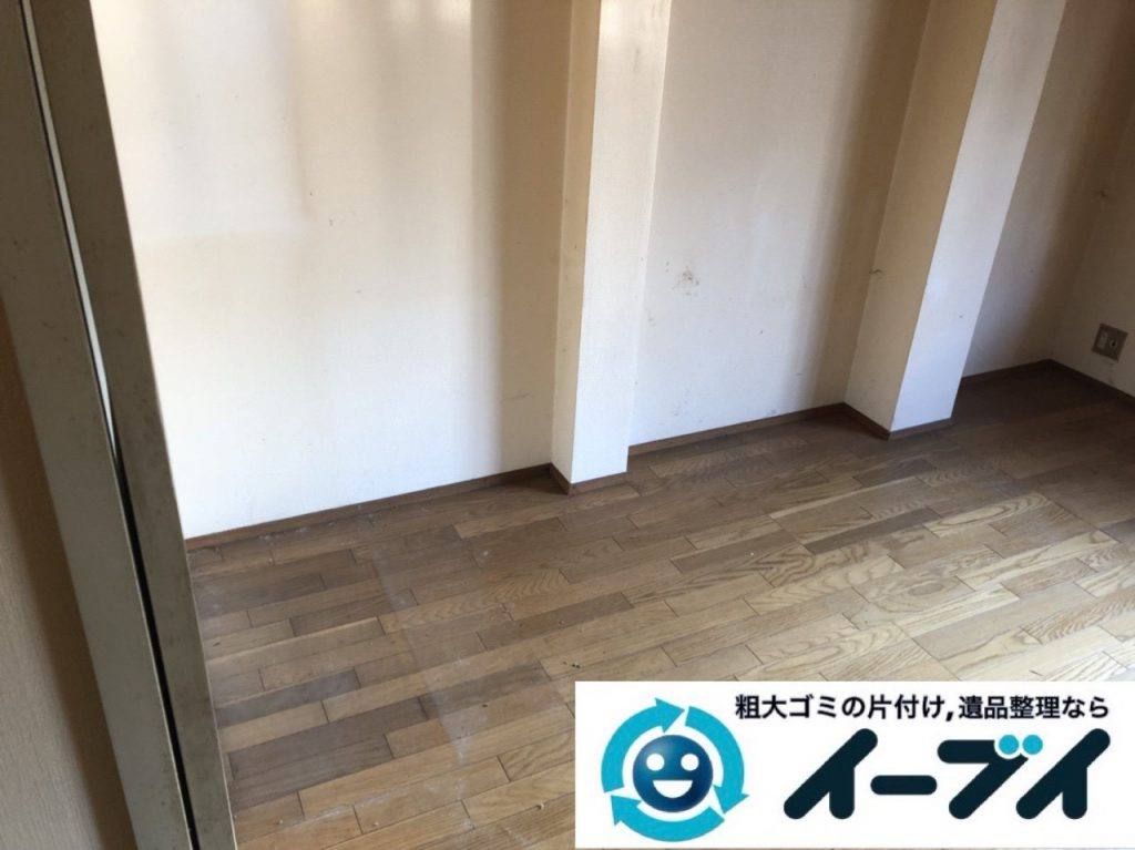 2019年1月16日大阪府大阪市大正区でお部屋の家具や家電などまるごと片付けさせていただきました。写真4